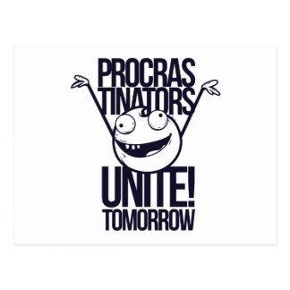 procrastinators unite tomorrow postcard