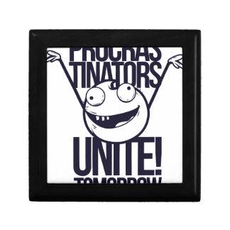 procrastinators unite tomorrow trinket boxes