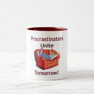 Procrastinators Unite Two-Tone Coffee Mug