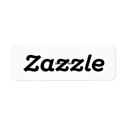 Prod Title Return Address Label