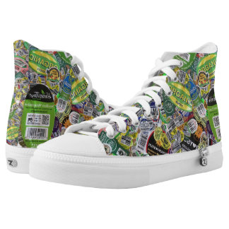 produce sticker shoes