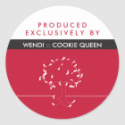 Produced Exclusively By {your name} Sticker
