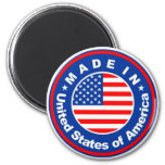 product country flag label made in america usa 2 inch round magnet