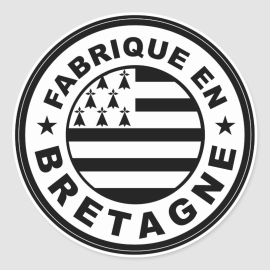 product country flag label made in britany france