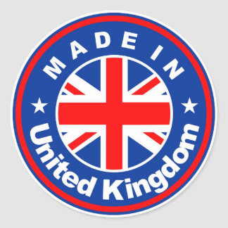 product country flag label made in united kingdom