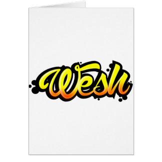 Product graffiti wesh card