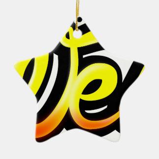 Product graffiti wesh ceramic ornament