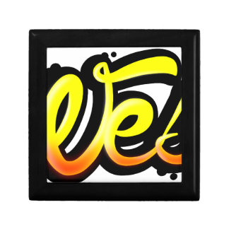 Product graffiti wesh trinket boxes