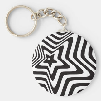 product with black and white star illusion vector keychain