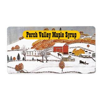 Produit de la ferme pastoral rural antique étiquettes d'expédition