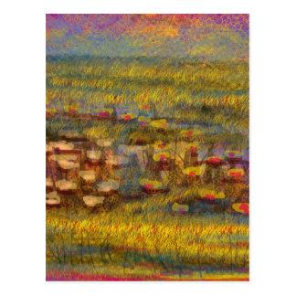 Produits abstraits impressionnistes de beaux-arts carte postale