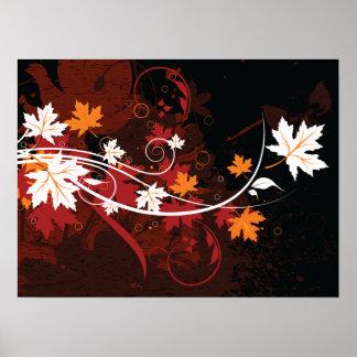 Produits de coutume de feuille-érable d automne de poster
