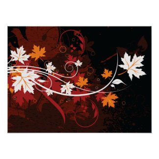 Produits de coutume de feuille-érable d'automne de poster