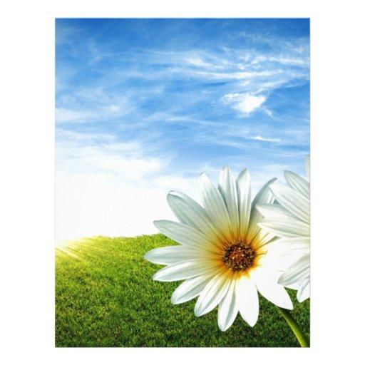 Produits de lever de soleil de fleur beaux en-tête de lettre