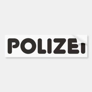 Produits et conceptions de Polizei ! Autocollant De Voiture