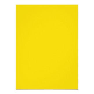 Produits personnalisables jaunes d'or de couleur carton d'invitation  13,97 cm x 19,05 cm