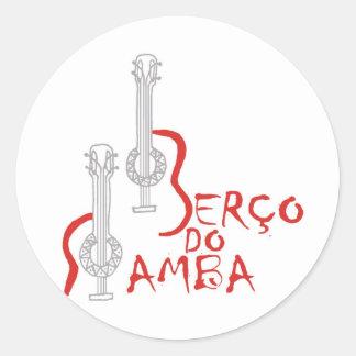 Produtos Berço do Samba Classic Round Sticker
