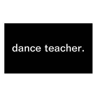 Professeur de danse carte de visite