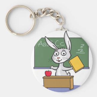 Professeur de lapin porte-clef