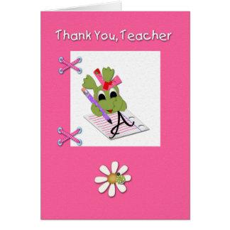 Professeur de Merci Carte De Vœux