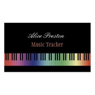 Professeur de musique - carte de visite