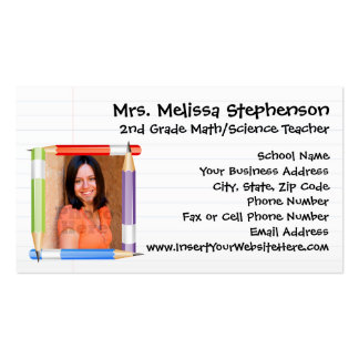 Professeur de photo/télécarte faits sur commande carte de visite standard