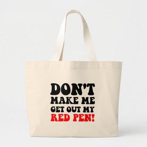 Professeur drôle sacs en toile
