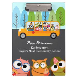 Professeur personnalisé par autobus scolaire