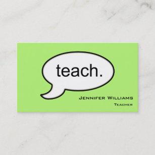 Professeur Simple Enseignant Le Carte De Visite