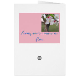 Professing your love in spanish, card