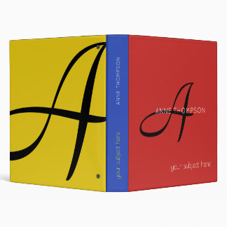 profession (or any other subject) colorful 3 ring binder