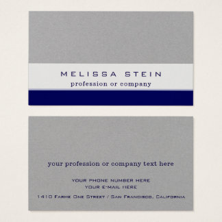 profession or company blue on gray premium business card