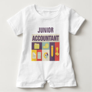 Professional Accountant Iconic Design Baby Romper