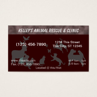 Professional Animal Services Hospital U-pick Color Business Card