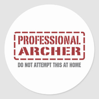Professional Archer Classic Round Sticker