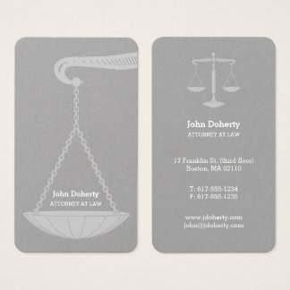 Professional Attorney at Law | Classy Business Card