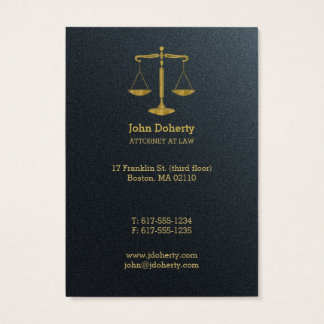 Professional Attorney at Law | Golden Business Card