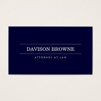 Professional Attorney Dark Blue Business Card
