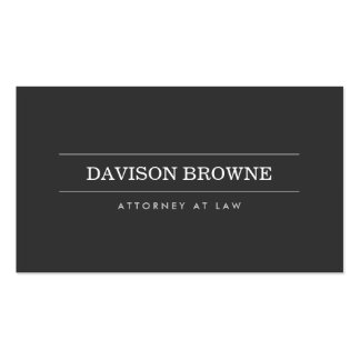 Professional Attorney Dark Gray Business Card