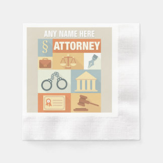 Professional Attorney Iconic Designed Paper Napkins