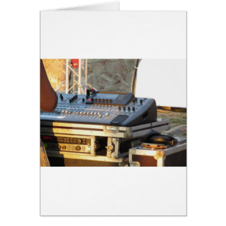 Professional audio mixing console card
