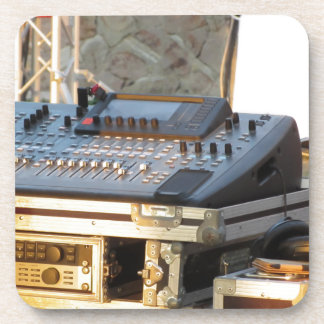 Professional audio mixing console coaster