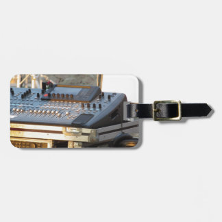 Professional audio mixing console luggage tag