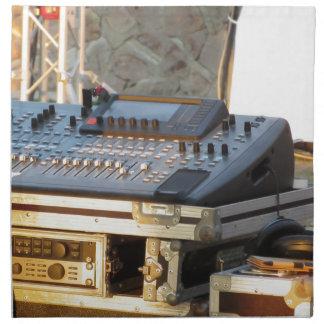 Professional audio mixing console napkin
