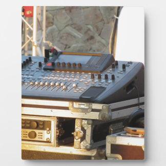 Professional audio mixing console plaque