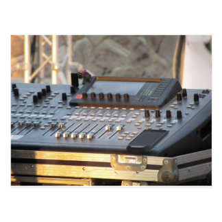 Professional audio mixing console postcard