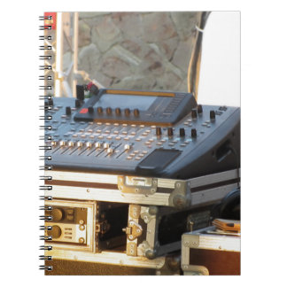 Professional audio mixing console spiral notebook