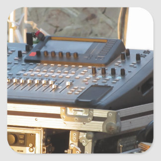Professional audio mixing console square sticker
