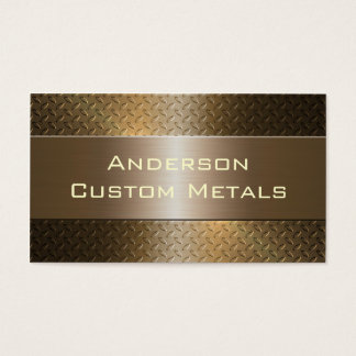 Professional Automotive Industrial Metallic Business Card