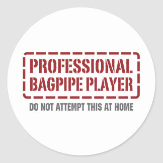 Professional Bagpipe Player Classic Round Sticker